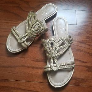Kate Spade Gold Rope Slide on sandals